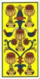Cinco de copas del tarot