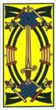 Cinco de espadas del tarot