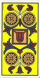 Cuatro de oros del tarot
