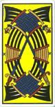 Diez de espadas del tarot