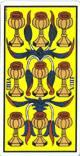 Nueve de copas del tarot