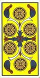 Seis de oros del tarot