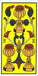 Tres de copas del tarot
