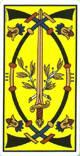 Tres de espadas del tarot