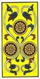 Tres de oros del tarot