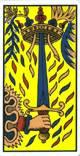 As de espadas del tarot