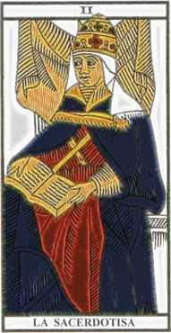 La carta de la Sacerdotisa