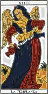 La carta de la Templanza